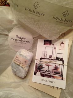 Love the products from House-Envy.co.uk and their branding and packaging - string bows, branded tape and stickers