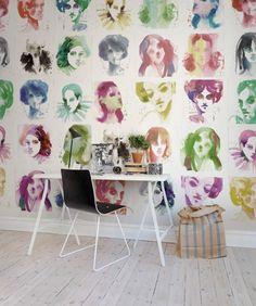 Hey, look at this wallpaper from Rebel Walls, Girls! #rebelwalls #wallpaper #wallmurals