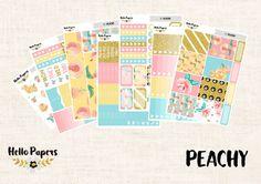 Full Kit  Peachy  Erin Condren Vertical  Planner by HelloPapers