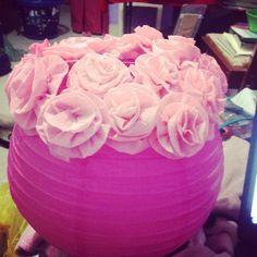Redonda flores de papel crepé