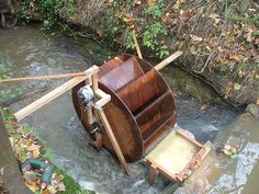 Water wheel generator- handy if we have a stream/creek