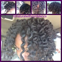 Bantu 'Not' Out I used the flexi rods to achieve the look of the Bantu Knot Out. Every time I so this technique I fall more in love with it! #bantuornah #bantu #flexirodset #curls #fluffyhair
