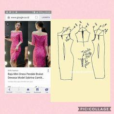 Lace dress Dress Patterns, Sewing Patterns, Pattern Drafting, Kebaya, Ao Dai, Corsage, Pattern Fashion, Bodice, Lace Dress