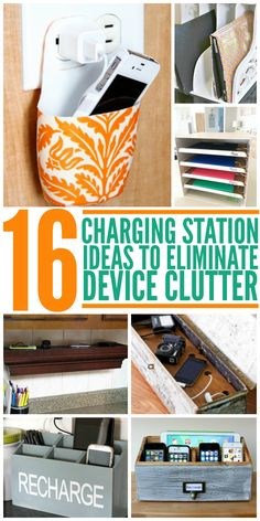 Clutter drives me nuts! Thankfully, these are cute ways to eliminate some of the problem by hiding charging device clutter.