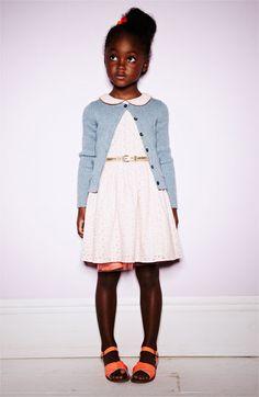 little girls, kids clothes, little girl style, girl outfits, dress, kids fashion, peter pan collars, mini, black girls