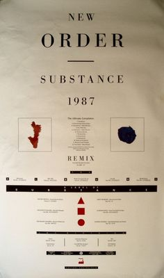 New Order . Substance . 1987 / love the album and the graphics .