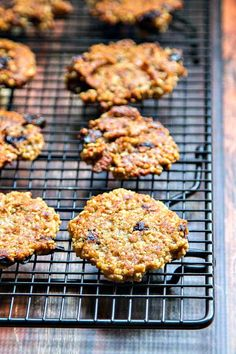 Cherry Banana Oatmeal Cookies - made with steel cut oats, quinoa, bananas, dried cherries & pecans. They taste great and are super healthy for you!