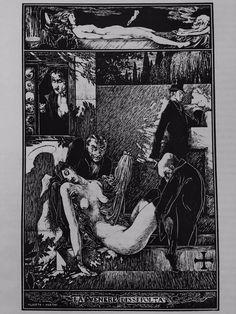Alberto Martini - dal ciclo grafico-La Venere Dissepolta-1904