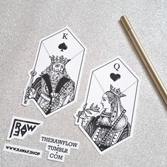 Dotwork couple matching pair tattoo King and Queen - for true lovers only!