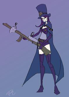 Caitlyn, costume inspired by Boogiepop Phantom and Sheriff skin