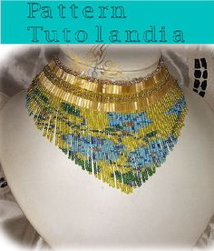 Pattern to create, a necklace with fringes. ITALIAN AND FRANCH