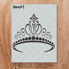 Tiare pochoir réutilisable artisanat & bricolage pochoirs-S1_01_119 - 8,5 x 11 - par gabarit1
