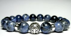 Hey, I found this really awesome Etsy listing at https://www.etsy.com/listing/205653230/mens-sodalite-beaded-bracelet-mens