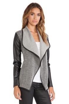 BB Dakota Allena Jacket in Black & Whitecap | REVOLVE