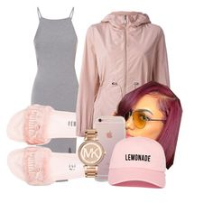 """""""rose gold"""" by dxrtysxriteqxeen ❤ liked on Polyvore featuring Glamorous, Puma, Moncler and Michael Kors"""