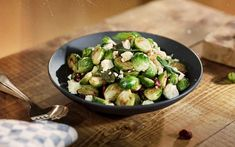Brussels sprouts is your rockstar alternative to cabbages or kale all year round. Here, they soak up the sweet and zesty flavours of the sage and cranberries. Yup, you're about to turn up the volume of that dinner of yours. White Cheese, Pecan Nuts, Serving Dishes, Main Meals, Frisk, Us Foods, School Snacks, Salvia, Dinner Plates