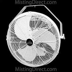 Misting Fans - Wet Location Fan White 18 Inch IndoorOutdoor WallCeilingPole Mount by Misting Direct ** Learn more by visiting the image link.
