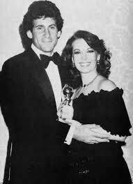 Natalie with Paul Michael Glaser at the Golden Globe Awards #blackandwhite