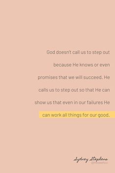 How to step out in faith when you fear failure. How you can live a faith-filled life, answer God's call, and take that leap of faith. Bible Verses Quotes, Faith Quotes, Words Quotes, Wise Words, Me Quotes, Quote Life, Scripture Verses, Sayings, Scriptures