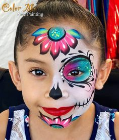 For photography sessions. Sugar Skull Face Paint, Sugar Skull Make Up, Sugar Skulls, Up Halloween, Halloween Makeup, Zombie Makeup, Scary Makeup, Halloween Costumes, Maquillage Sugar Skull
