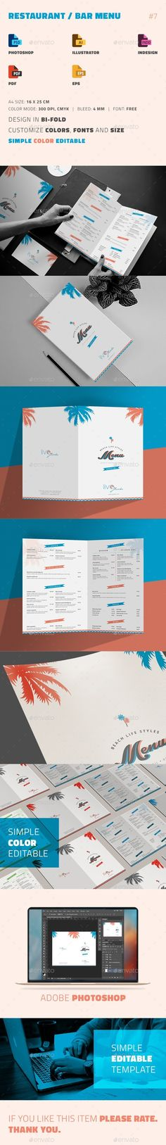 Cafe Menu Template Menu templates, Food menu template and Menu - bar menu template
