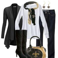 Men's New Orleans Saints Klew Black Big Logo Sweater Pullover Hoodie