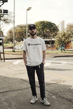 São Paulo Fashion Week. Macho Moda - Blog de Moda Masculina: Os Looks Masculinos do SÃO PAULO FASHION WEEK #SPFWn44, Moda Masculina, Moda para Homens, Roupa de Homem. Camiseta Champion, Streetwear,