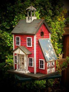 Prim Birdhouse...love it.