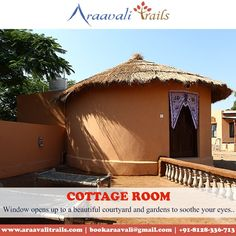 Relish the best view from the rooms. Araavali Trails, a perfect resort set in the range of Aravali Hills. Plan your trip with us. Adventure Resort, Best Resorts, Plan Your Trip, Nice View, Trail, Picnic, Cottage, Rooms, Outdoor Structures