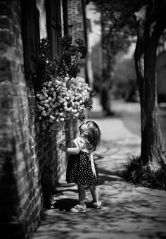 Black & White Photography - smell the flowers