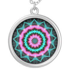 Fractalscope 8 pendant......#necklaces #jewelry #colorful #RoseSantuciSofranko #Artist4God #Zazzle #accessories #customizable #forsale #pendants #fashion #fractals #fractalscopes #kaleidoscopes #mandalas #abstracts #digital art #psychedelic #bohemian