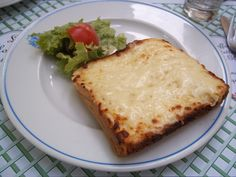 Croque Monsieur.my favorite food when I was in Paris...wasn't even close to what I remembered :(