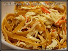 Learning the Ropes...One Recipe at a Time: Crab Pasta with Garlic Butter Sauceand mushrooms