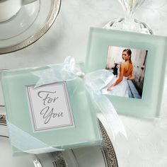 Photo Frame Coaster Wedding Favor | #exclusivelyweddings    More Wedding Favors at: www.RealWeddingDay.com