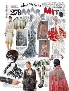 Lele Acquarone, Vogue Italia, February n. Fashion Design Sketchbook, Fashion Design Portfolio, Fashion Sketches, Art Portfolio, Student Fashion, School Fashion, Fashion Collage, Fashion Art, Sketchbook Layout