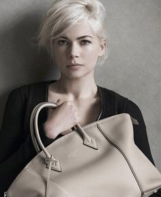 Exactly How To Create Michelle Williams's Louis Vuitton Look I chopped my long hair off because of this campaign and I love it!
