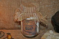 Primitive Laundry Soap Jar