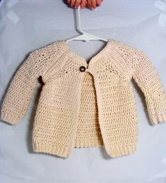 Baby Girl Sweater Raglan sleeve cardigan single button jacket sacque for infants babies toddlers cotton sweater by hamburke on Etsy