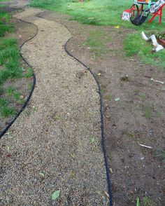 Create a road more traveled in your backyard, and save your lawn from foot traffic, with this easy, affordable gravel path.   Good simple directions.
