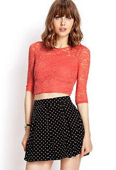 Sweet Lace Crop Top | FOREVER 21 - 2000090201