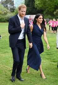 Prince Harry, Duke of Sussex and Meghan, Duchess of Sussex attend the This Girl Can campaign at Government House on October 2018 in Melbourne, Australia. The Duke and Duchess of Sussex are on. This Girl Can Campaign, Philip Treacy Hats, Meghan Markle Prince Harry, Meghan Markle Style, Navy Coat, Sailor Dress, Dion Lee, Bridesmaid Dresses, Wedding Dresses