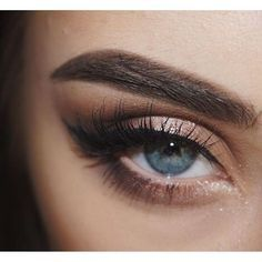 Brown Eye make up and Lashes