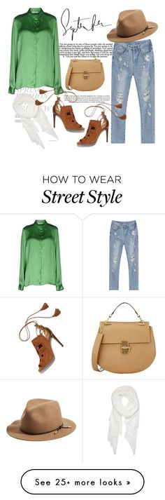"""Street Style"" by tamo-kipshidze on Polyvore featuring Versace, Calvin Klein, rag & bone, Chloé and Aquazzura"