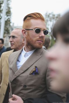 the-streetstyle: Paris, Avenue President Wilson …via chictoochic Moustaches, Sharp Dressed Man, Well Dressed Men, Hot Ginger Men, Ginger Beard, Men's Grooming, Gentleman Style, Stylish Men, Dapper