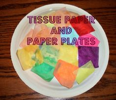 Decorate a Paper Plate with Tissue Paper & Kid's Co-Op