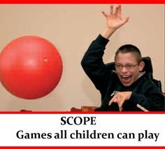 Link to a pdf of games for kids that need adjustments to play. Great for highly physically disabled kids.