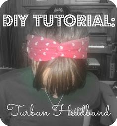2MESSY: DIY ~ Turban Headband