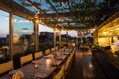 Best Rooftop Bars In The UK For Long Summer Night Drinking is part of Rooftop garden London - Suns out, we're out! Step aside the humble pub garden, when it comes to al fresco drinking, we've rounded up the best rooftop bars in the UK London Rooftop Bar, Hotel Rooftop Bar, Best Rooftop Bars, Rooftop Restaurant, Rooftop Terrace, Restaurant Design, Rooftop Design, Rooftop Party, Rooftop Gardens