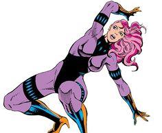 Diamondback (Rachel Leighton) trains with her throwing diamonds. From http://www.writeups.org/diamondback-leighton-marvel-comics-captain-america/