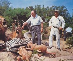 vintage Disneyland picture Walt inspects the Jungle Cruise before its opening in 1955.